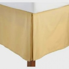 12 Inches Drop Bed Skirt Gold Egyptian Cotton 1000 Thread Count